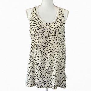 REISS Kendall Speck Print Silk Tank Top Size L